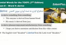 کلمات کلیدی تافل : لغات ضروری TOEFL